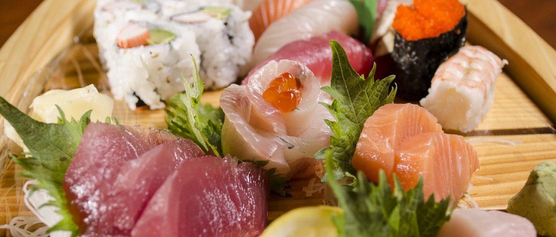 Les biens faits des sushis