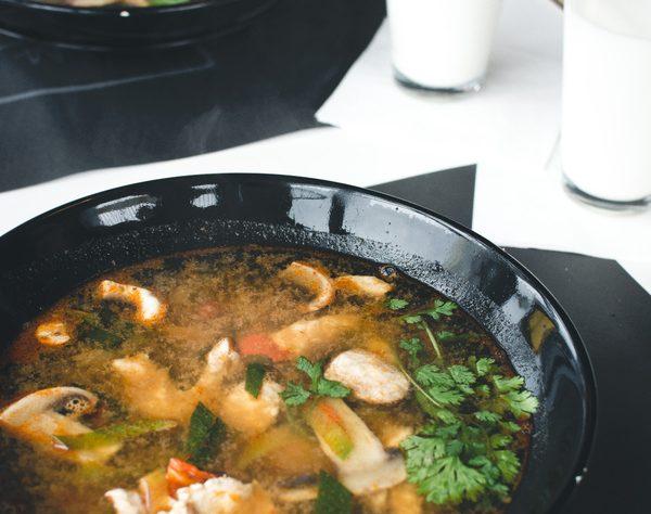 recette soupe miso porc haricots verts